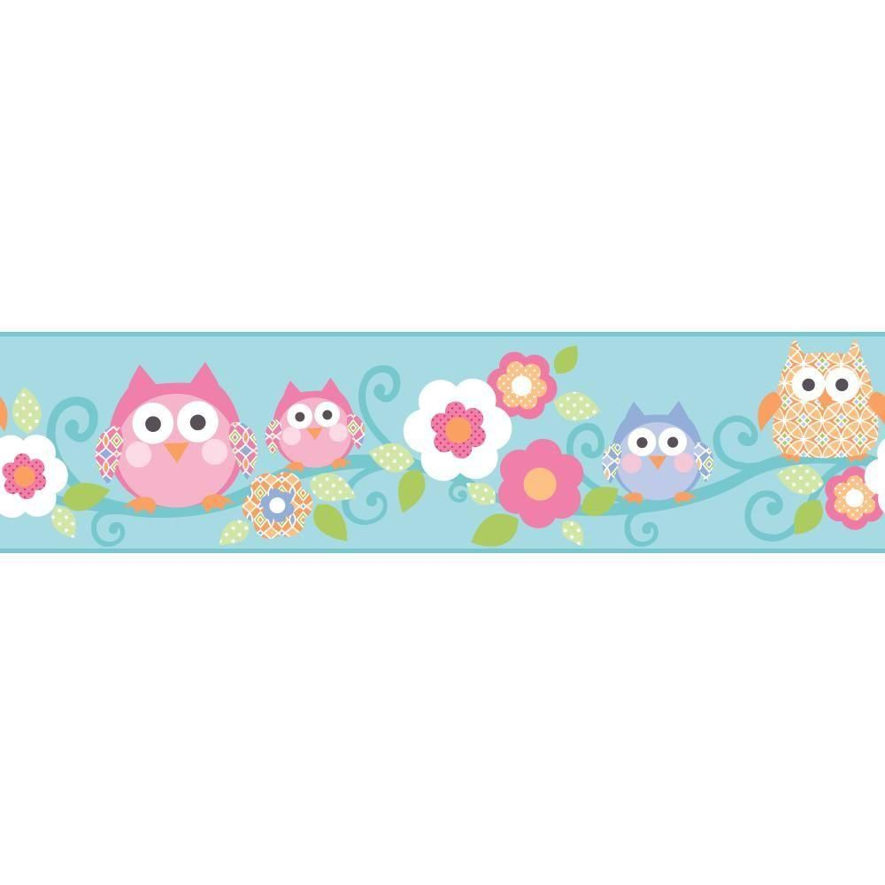 York Wallcoverings Cool Kids Owl Branch Wallpaper Border