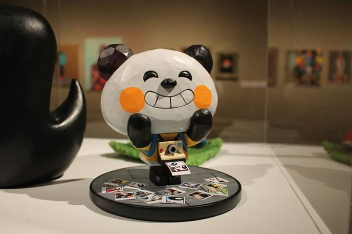 Pictoplasma Portrait Gallery: Portrait of Panda Otaku Hand Carved Wood, 2014 by TADO