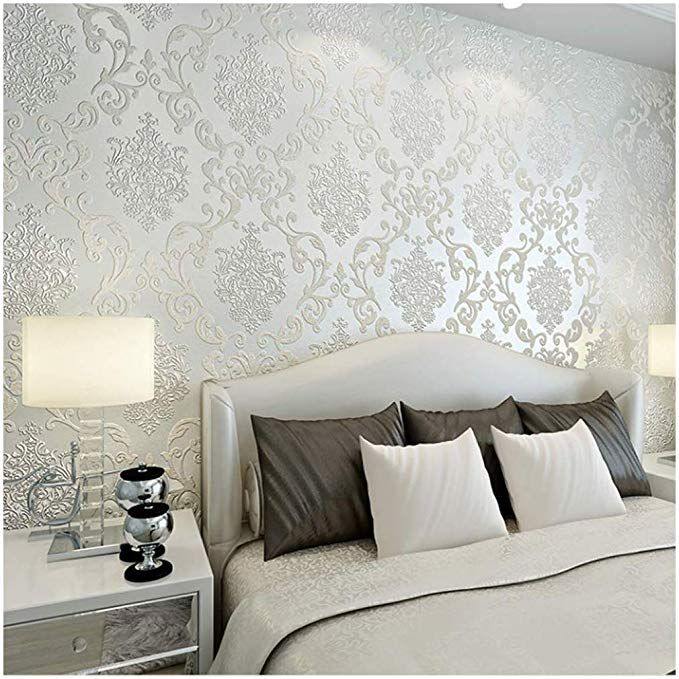 Qihang European Style Luxury 3d Damask Pearl Powder Non