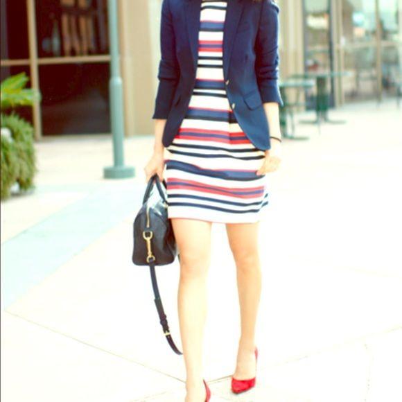 J crew red white and blue striped dress Beautiful dress. I