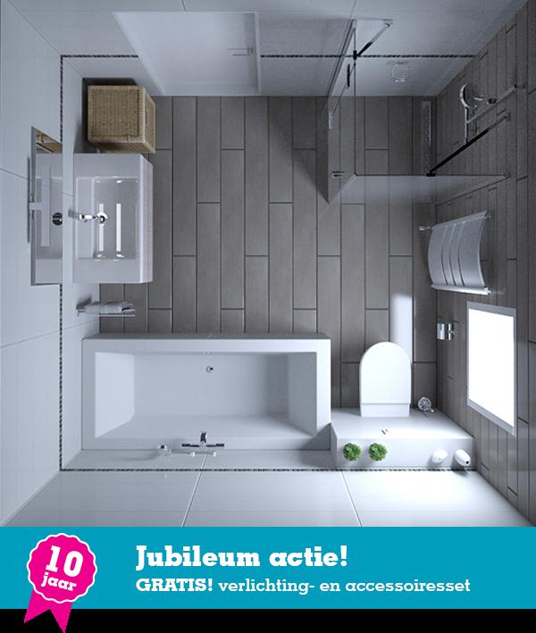 Badkamer Aqualounge Design € 4495,- | Complete badkamers | Pinterest