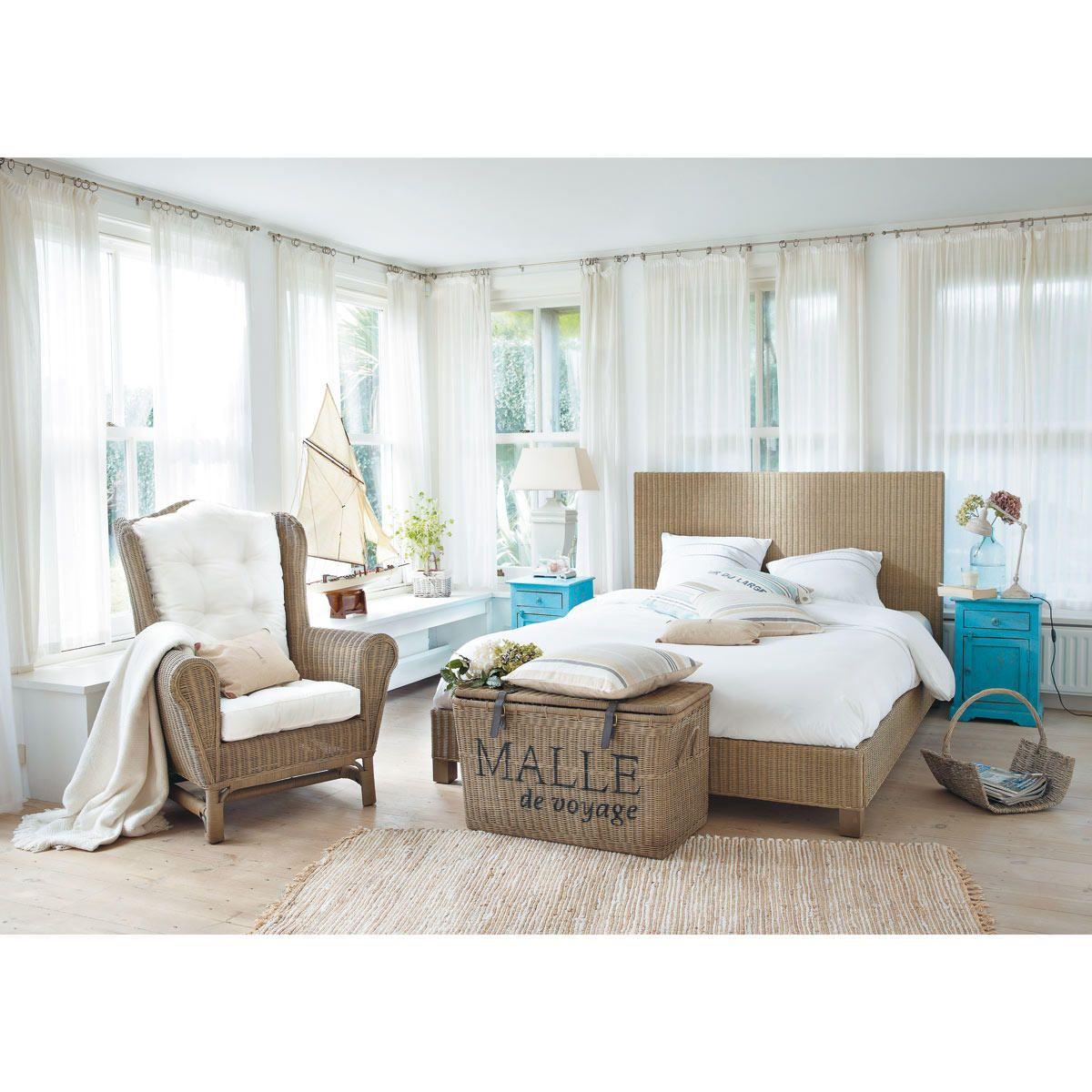 malle en rotin tress l80 en 2019 bord de mer chambre. Black Bedroom Furniture Sets. Home Design Ideas