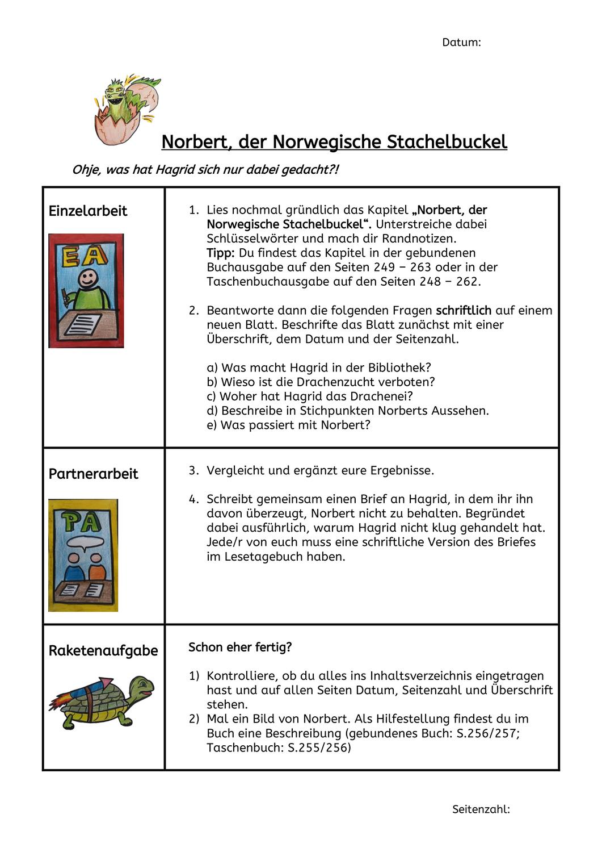 Norbert Der Norwegische Stachelbuckel Norwegisch Einzelarbeit Zu Beschaftigt