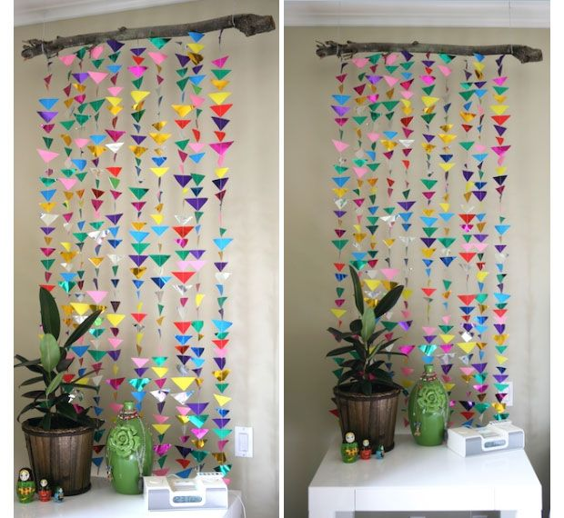 Diy Hanging Garland Decorations S Bedroom Decor Ideas Click For Tutorial On The Back Of Door In Laundry Room