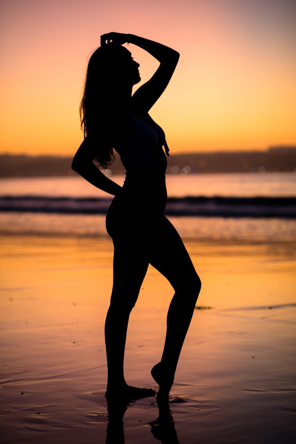 Puesta De Sol En La Playa De Mino Con Silvia Dani Vazquez Fotografia Puesta De Sol Playa Puestas De Sol Fotografia