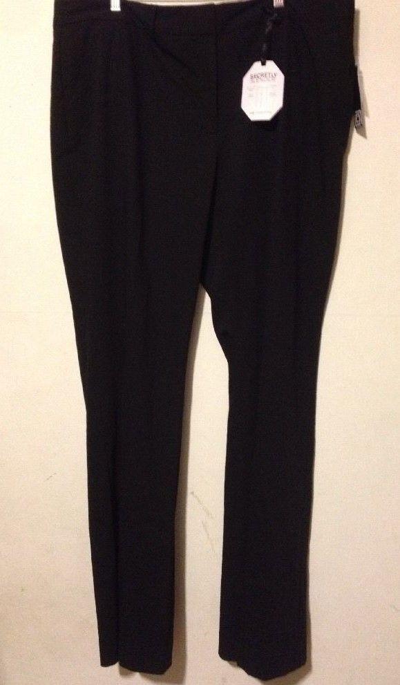 415cc2497b1 NWT LIZ CLAIBORNE SOPHIE Womens Dress Pants Black Secretly Slender 20 Tall  44x35  LizClaiborne  DressPants  Pants  Black  Tall  women  womens  woman   20T ...