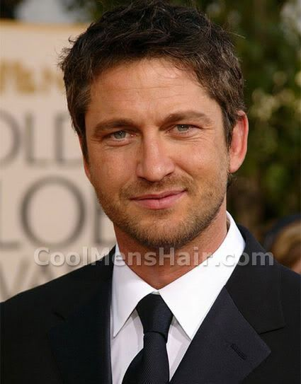 Hairstyles For Men With Round Faces Inspiration Gerard Butler Hairstyle For Round Face Shape Hairstyle Ideas For