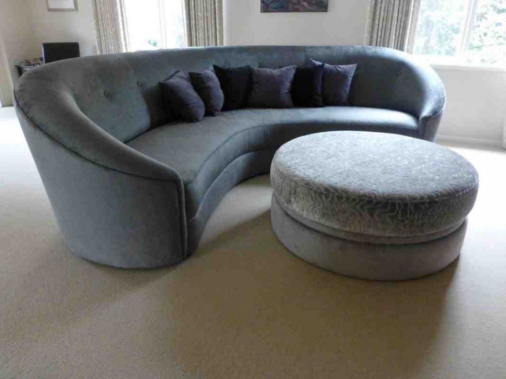 Modern Round Sofa Bed Vintage Brown Leather Tufted Curved Sofas For Sale Pinterest