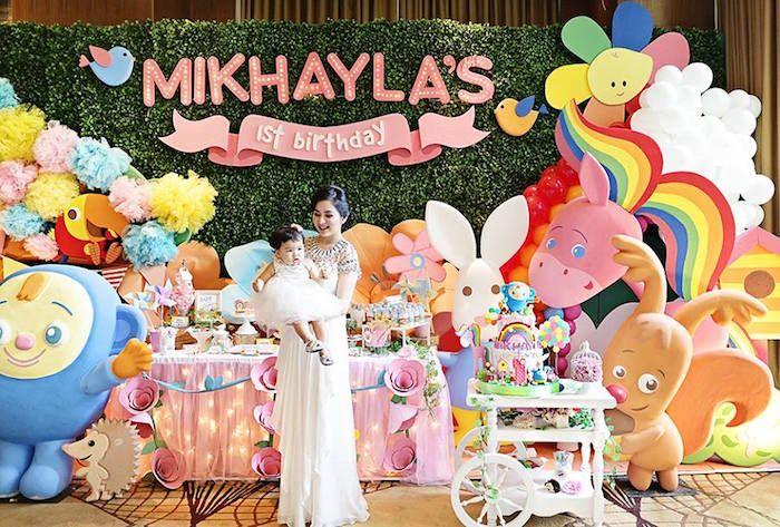 Sunny Garden 1st Birthday Party Kara S Party Ideas Fairy Theme Birthday Party Birthday Party Set 1st Birthday Party Supplies