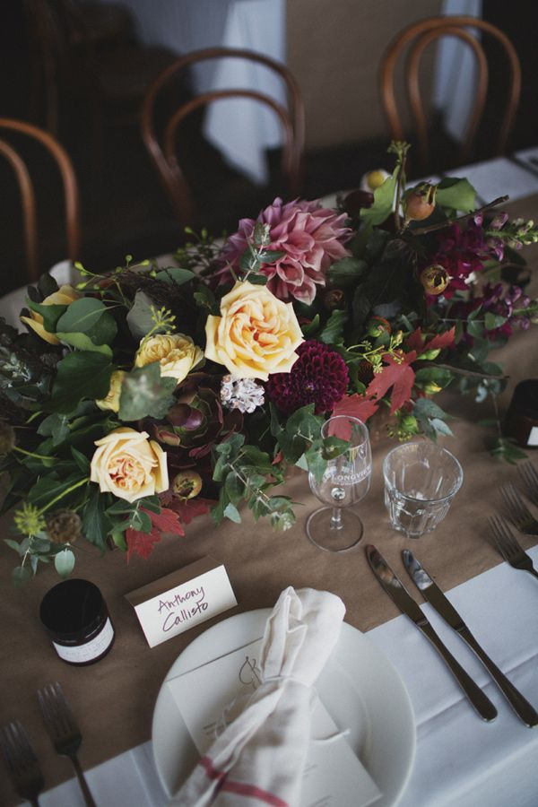Dahlia and rose centerpiece photo by whitewall photography http an australia wedding in adelaide hills with natural and organic materials junglespirit Image collections
