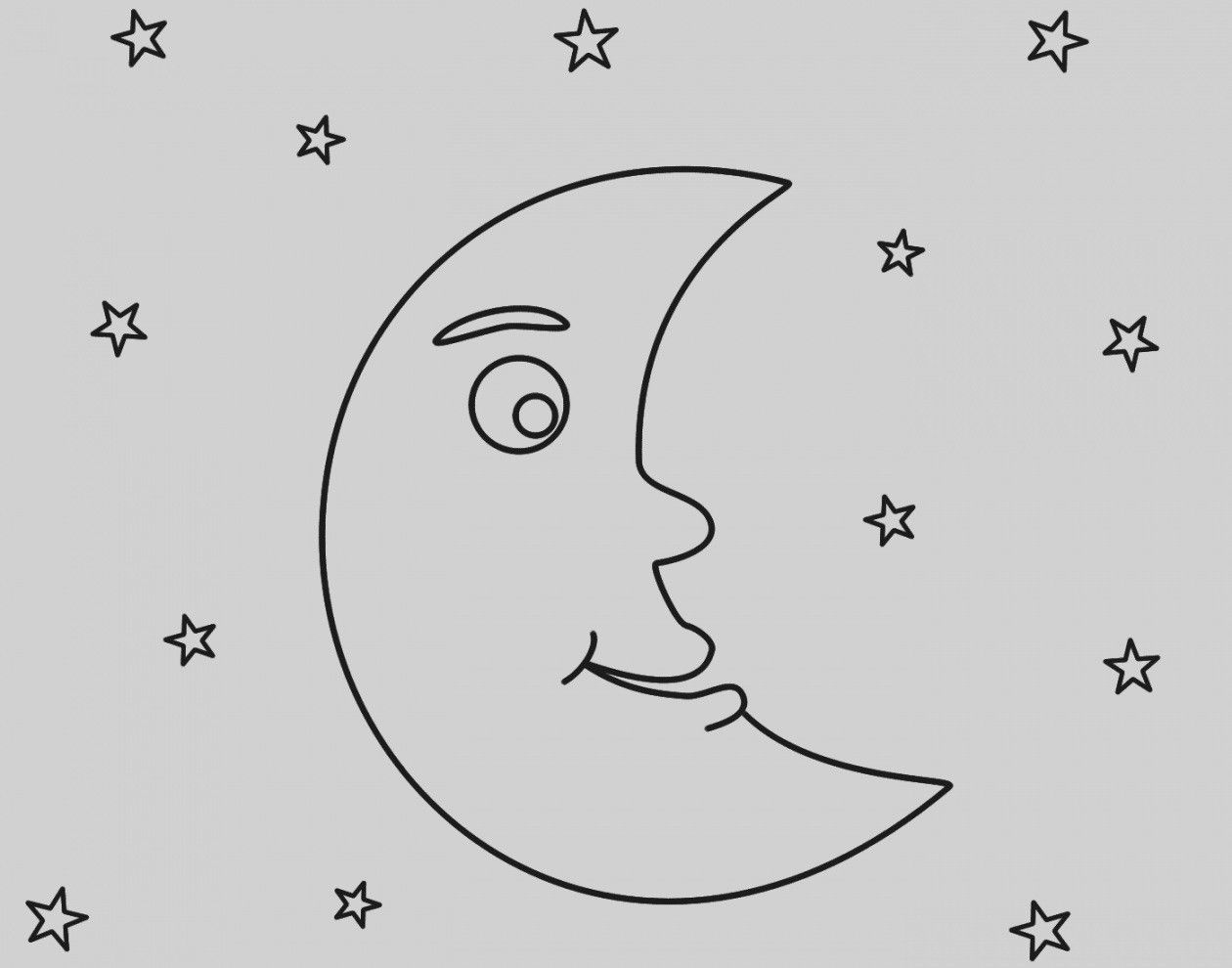 12 Images Of Moon Coloring Pages For Preschoolers Moon Coloring