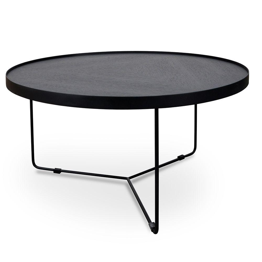 Buy Black Glass And Metal Circular Coffee Table From Fusion Living Coffee Table Round Metal Coffee Table Living Room Coffee Table [ 1000 x 1000 Pixel ]
