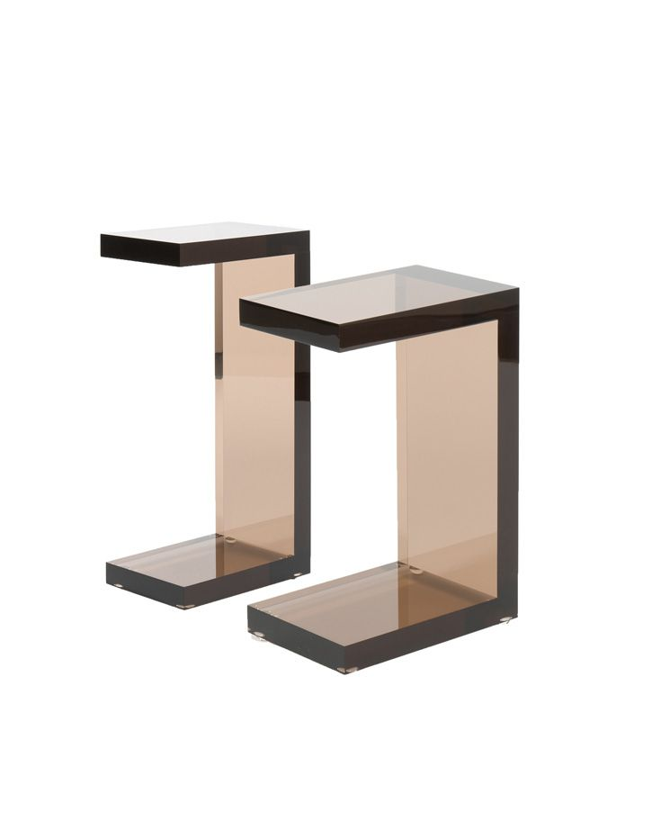 Lovely Side Tables   Bronze Acrylic C Tables