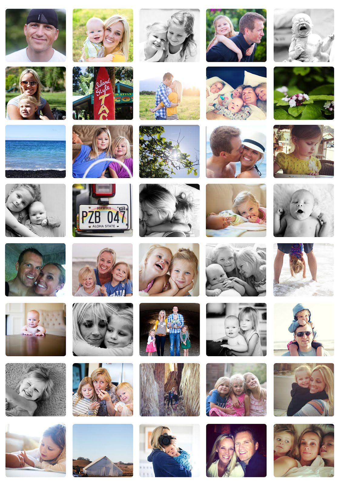 20 X 30 Inch Poster Of Various Family Photos In A Collage Love It Collage Poster Photo Projects Collage Design