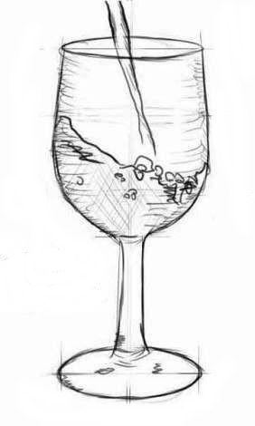 Ein Interessantes Bild Für Ihre Küche Können Sie Zeichnen: Glas Mit Wasser  Zeichnen. Es