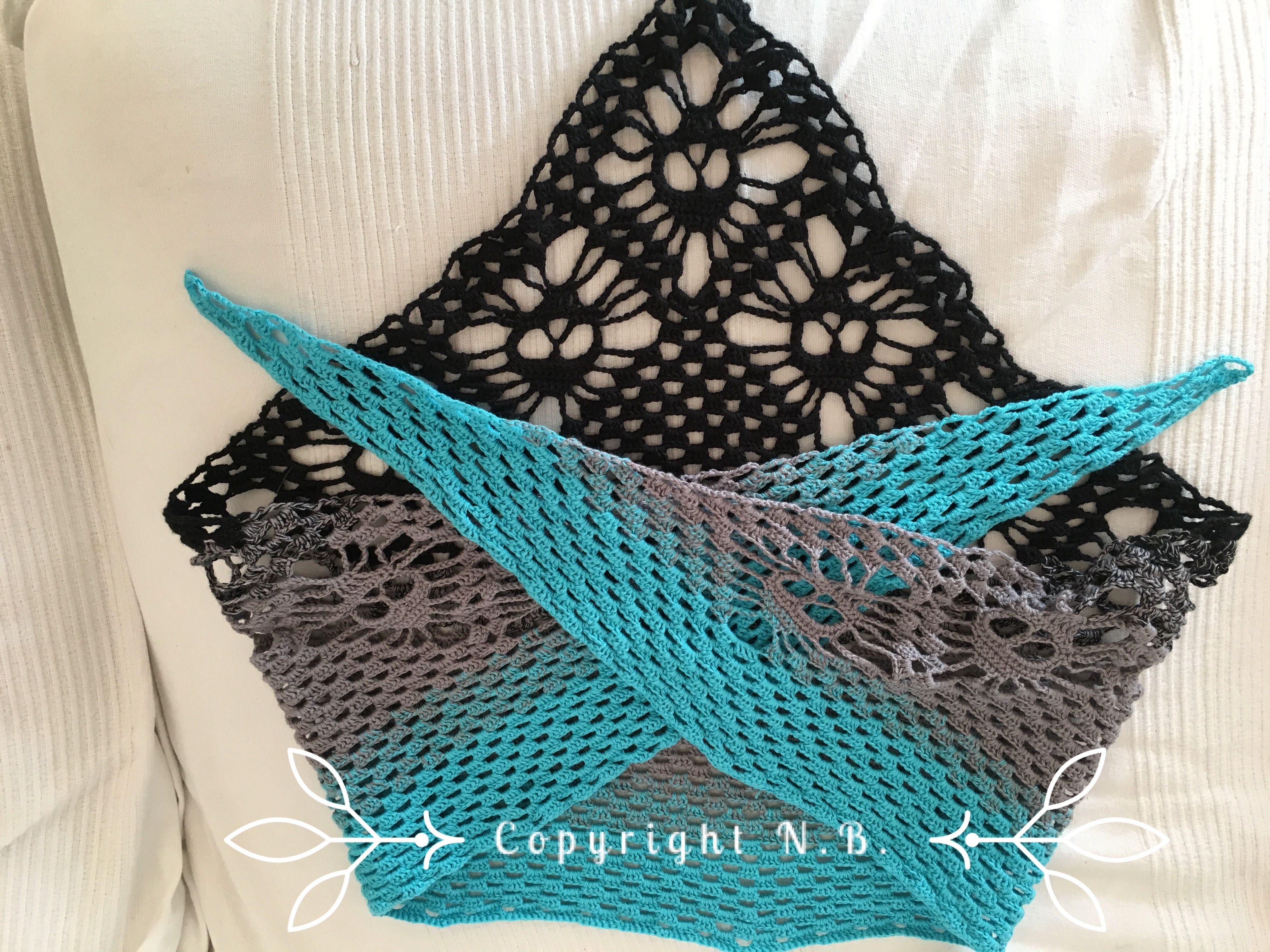 Totenkopf Dreieckstuch Häkeln Crochet Tuch Nicisknittinglove