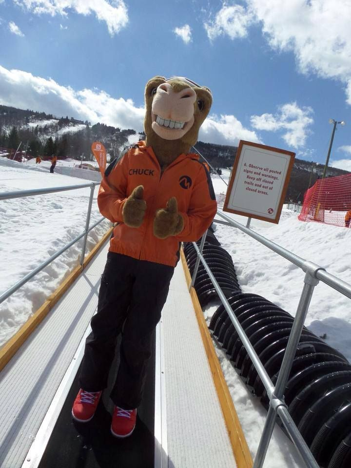 Chuck is getting ready to snowtube at Camelback! #MyCamelback