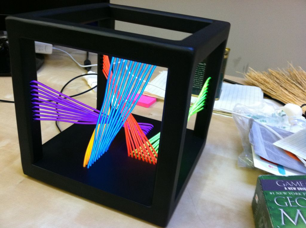 EL Wire Cube Sculpture | Ideas for Alex | Pinterest | Cube