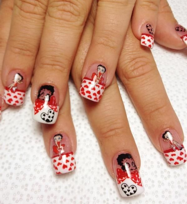 Betty Boop Nails: Absolutely Love This!! Anyone Else Have Betty Boop Nails