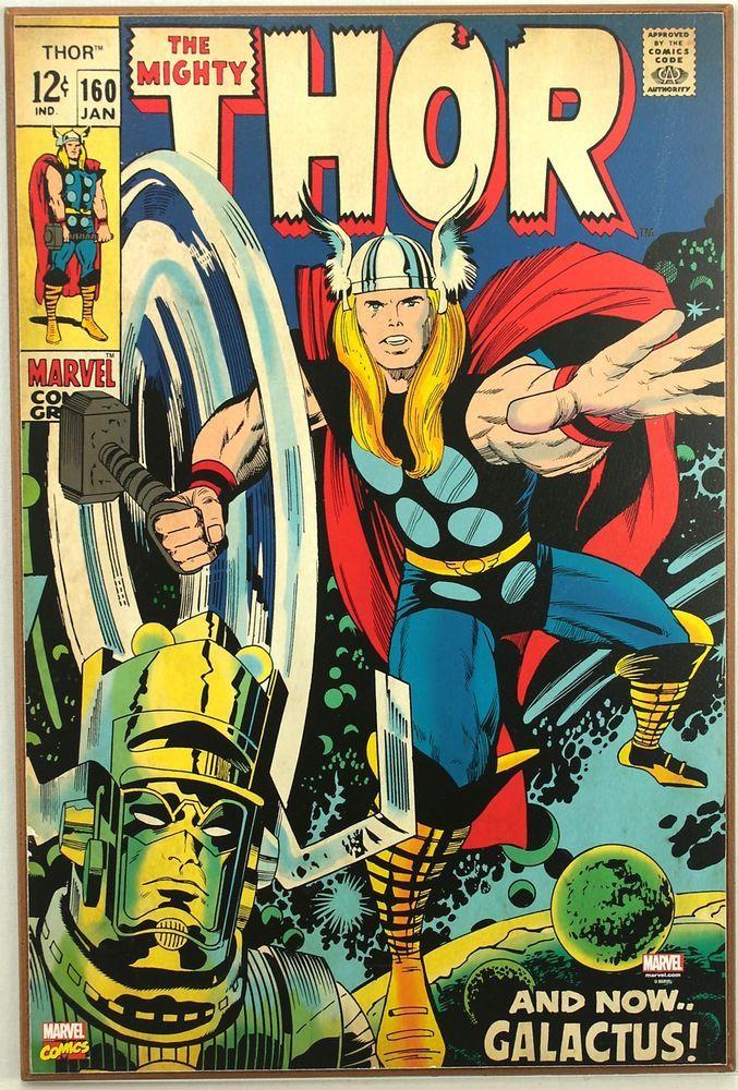 Marvel Thor 160 Galactus Retro Wood Comic Cover Plaque