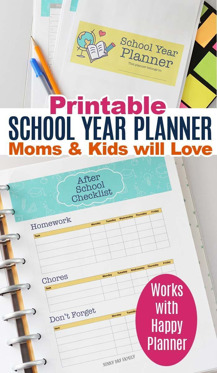 A Printable School Planner Moms and Students Will Love is part of School Organization Printables - This printable school planner is flexible for moms and students to get organized for back to school