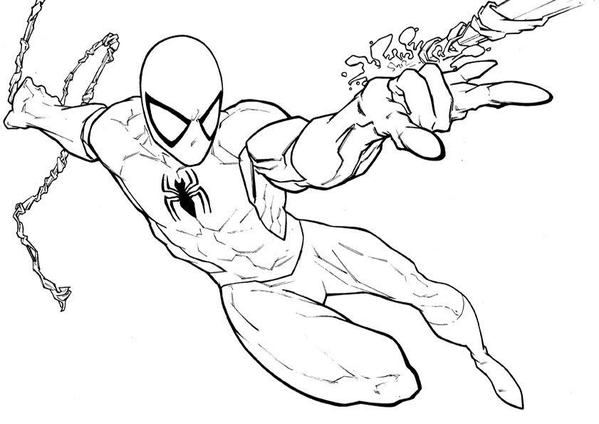 aumalbilder malvorlagen spiderman  ausmalbilder