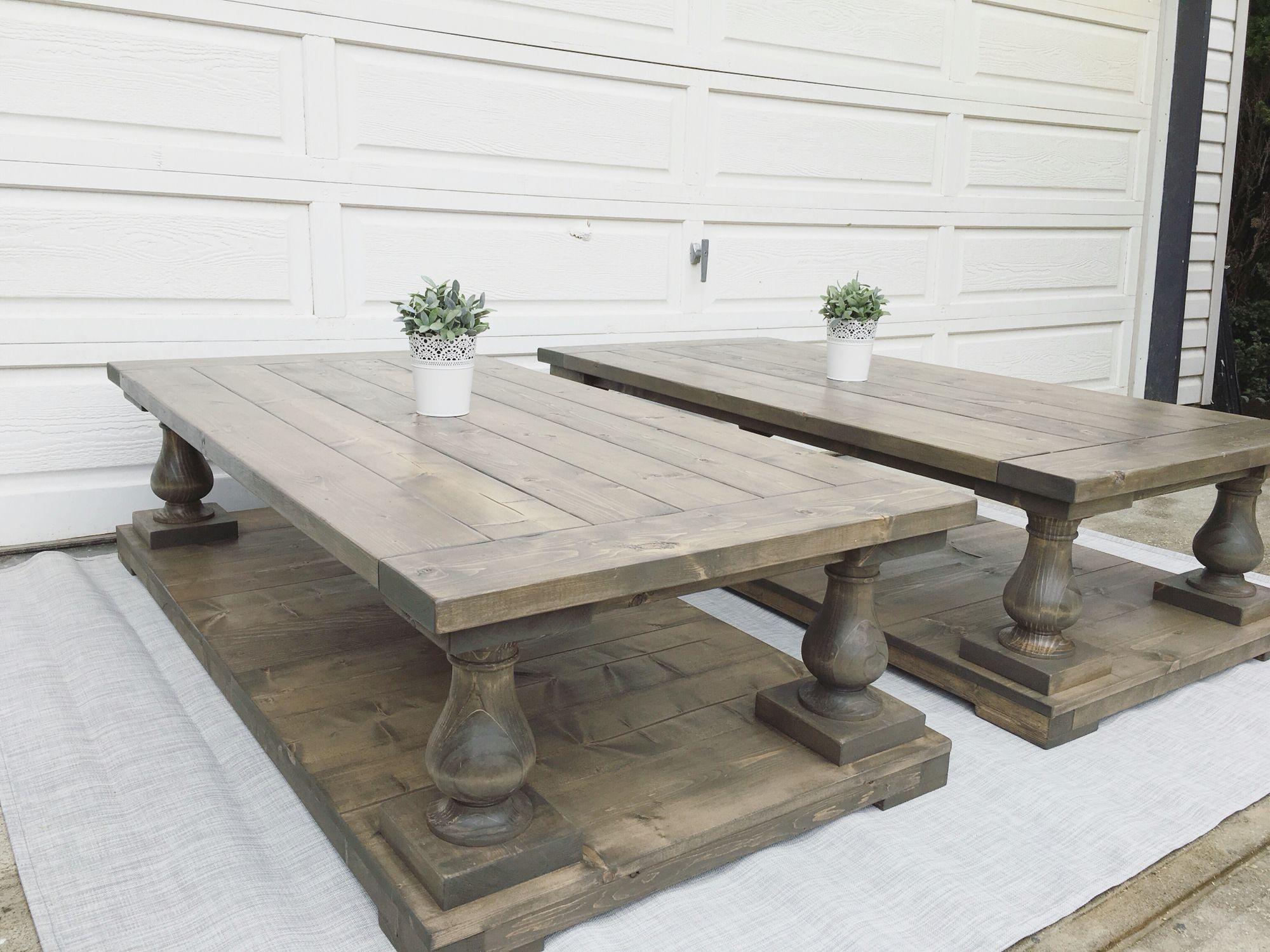 Balustrade coffee table rusticmeadows DIY tables