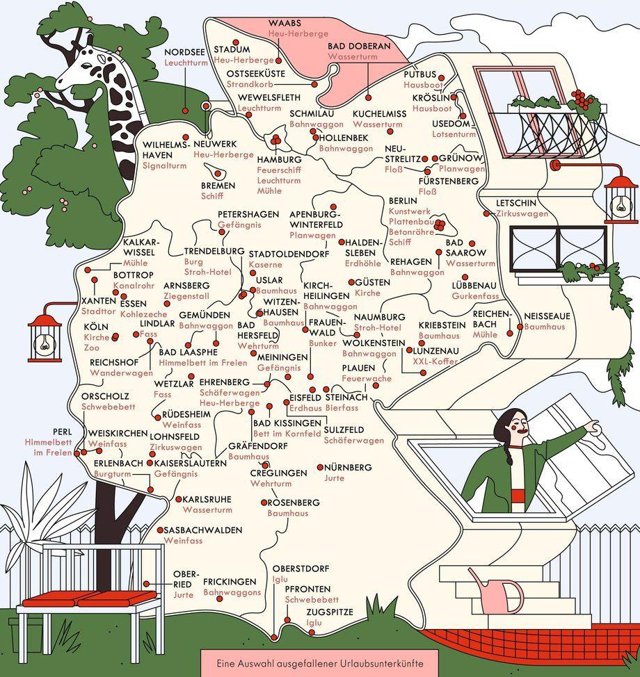 autobahnhotels deutschland karte Hotels: Unvergessliche Nächte | Deutschlandkarte, Ungewöhnliche