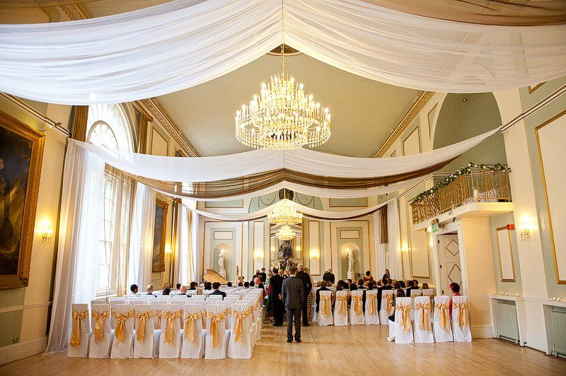 Drape For Events White Voile Amp Gold Organza Ceiling