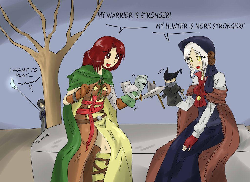 Bloodborne vs Dark souls by Tikoriko.deviantart.com on @DeviantArt