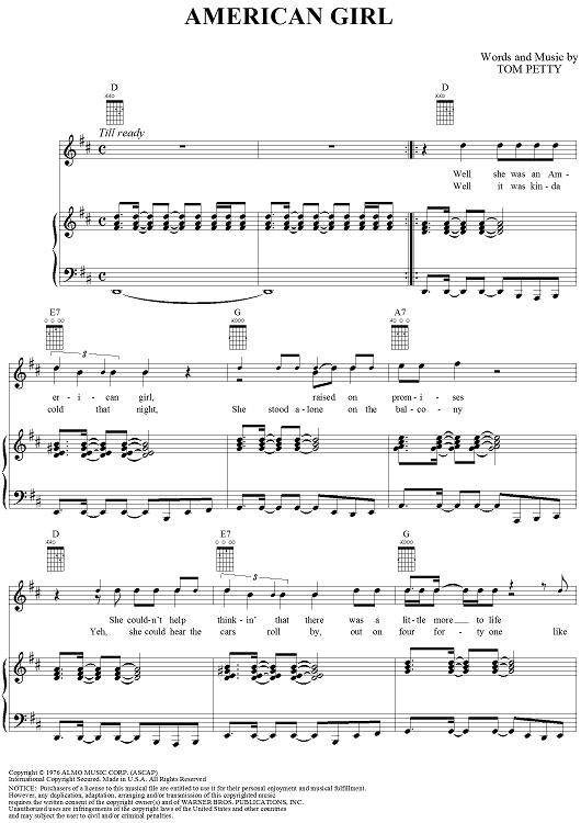 Tom Petty Sheet Music Erkalnathandedecker