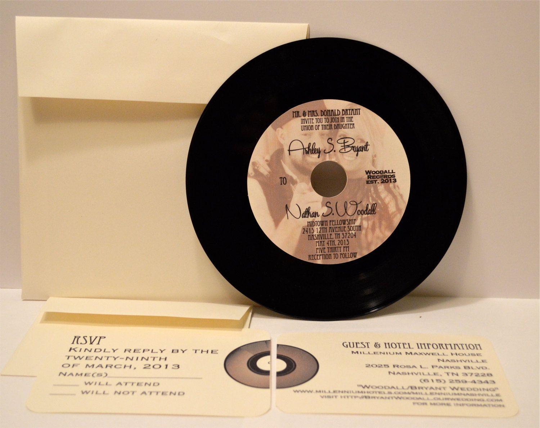 45 Vinyl Record Wedding Invitation by SimplyDoneInvites on Etsy ...