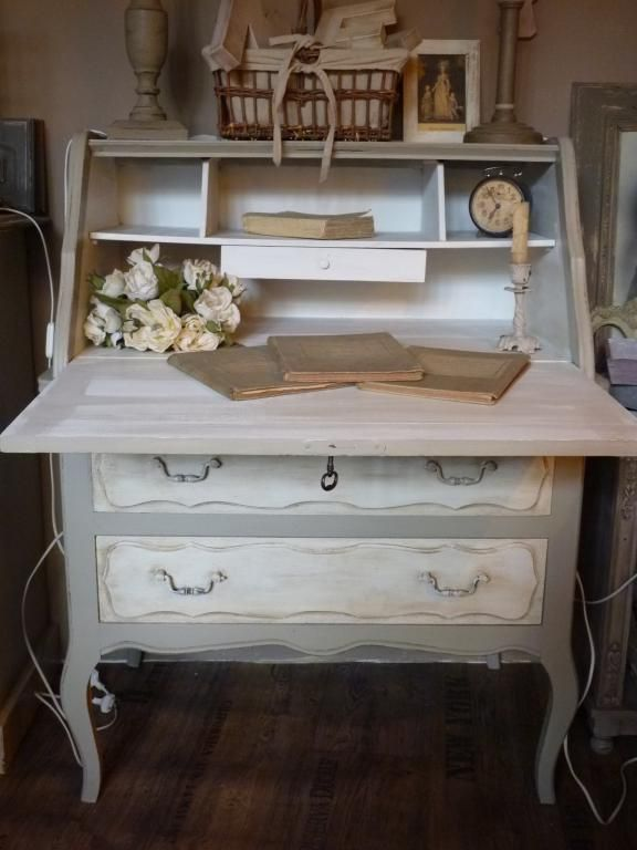 meuble relook secr taire style louis xv bureaux secr taires patine et campagne shabby. Black Bedroom Furniture Sets. Home Design Ideas