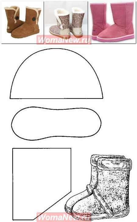 El patrón uggi | WomaNew.ru - las lecciones del corte y la costura ...