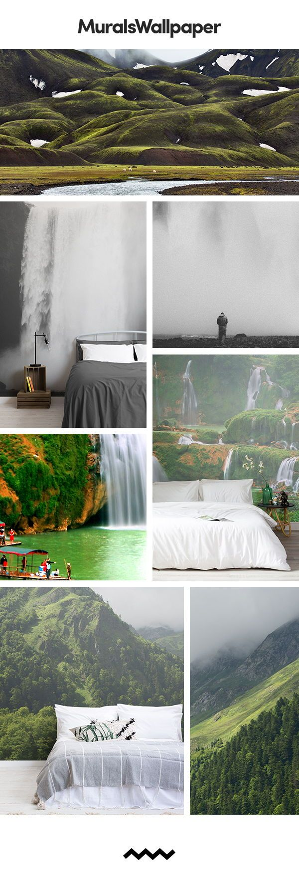 Nature bedroom ideas create with nature inspired bedroom forest wallpaper, forming serene spaces ...