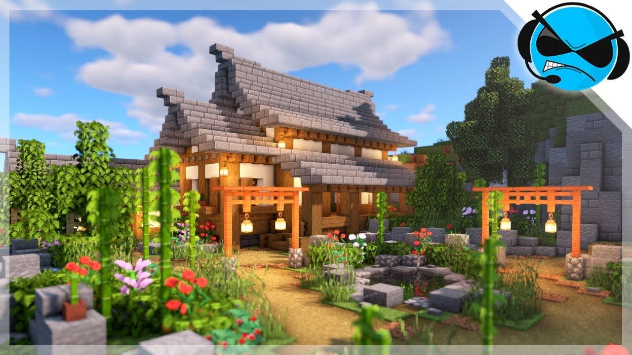 Minecraft How to Build a Japanese House Minecraft Build Tutorial