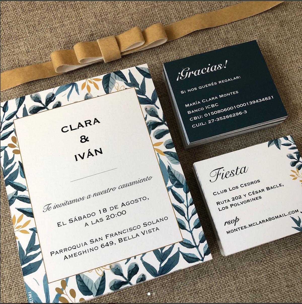 Acuarelas Invitación De Tarjeta De Casamiento Boda Y