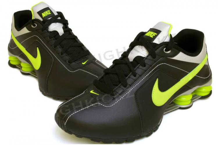 newest 8243a ebba3 NIKE Shox Conundrum 407988 006 Black   Volt   Metallic Silver Designed to  look super-