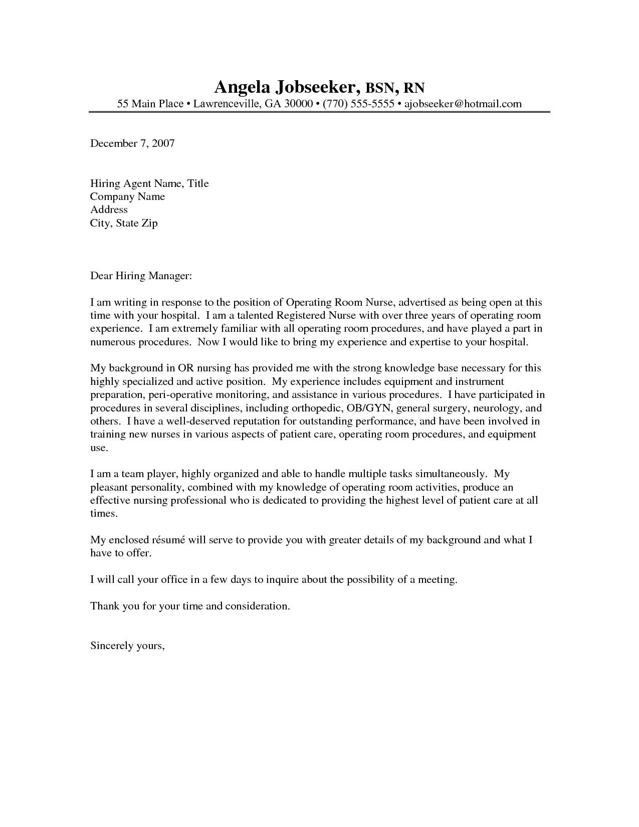 25 Writing A Good Cover Letter Cover Letter For Resume Resume Cover Letter Examples Good Cover Letter Examples Nurse practitioner cover letter new grad