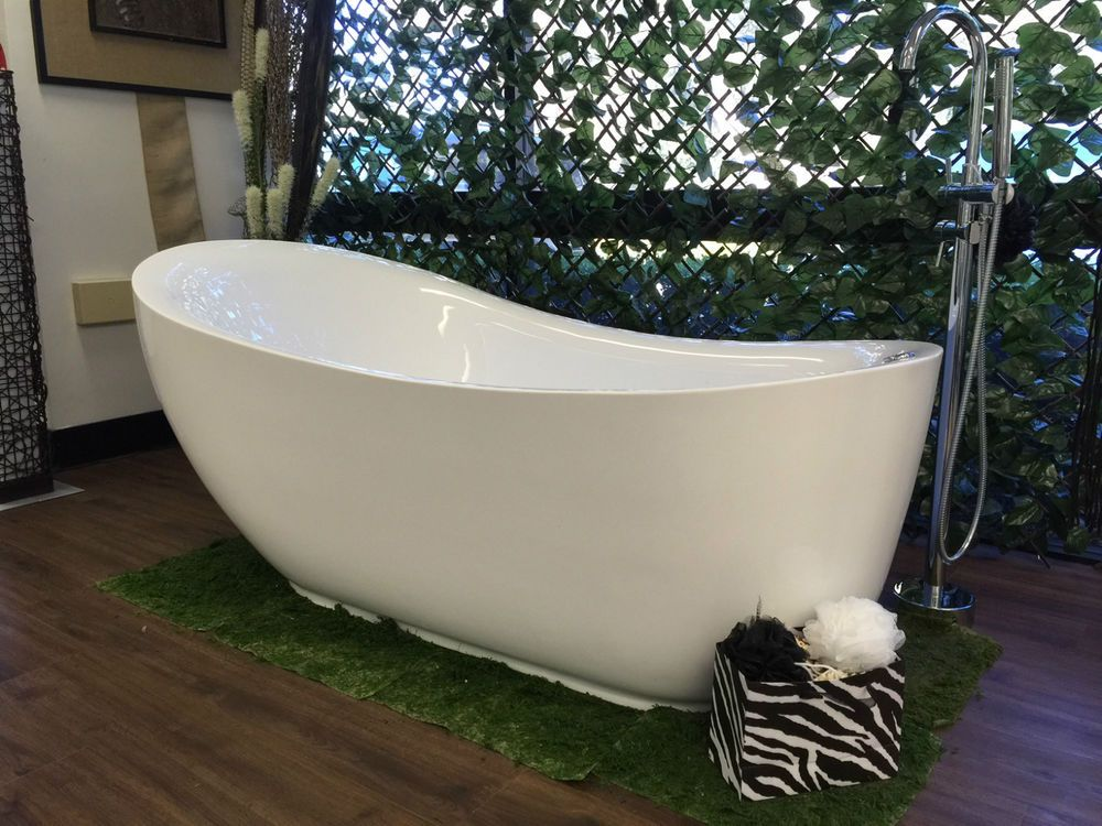 Details about Bathroom Acrylic Free Standing 18 Jet Spa Bath Tub ...