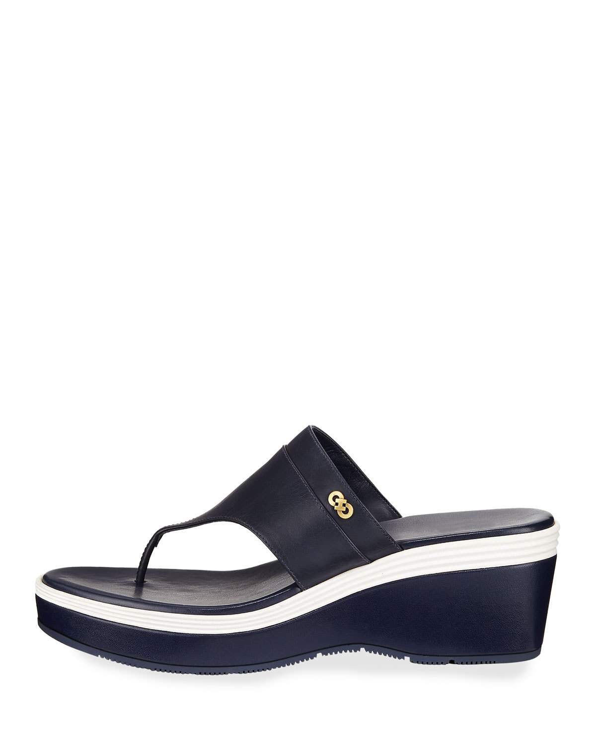 2009d272f28 Cole Haan Cecily Grand Colorblock Wedge Thong Sandal