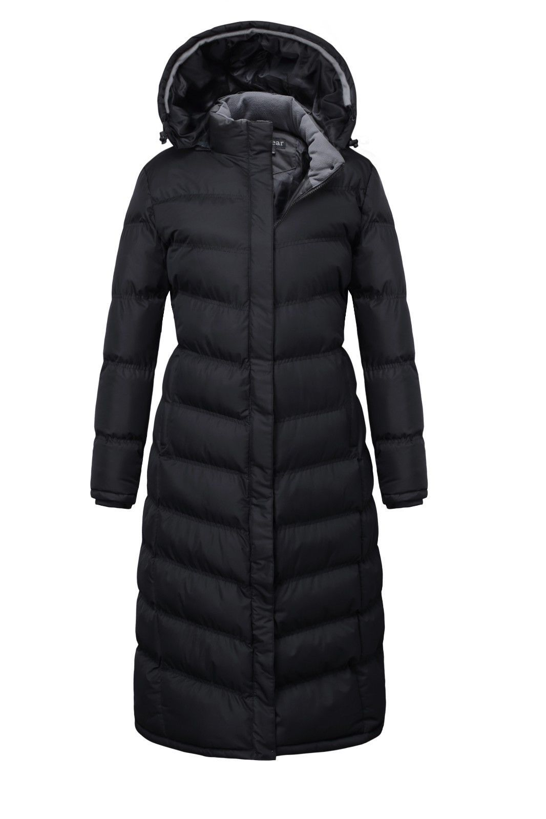 Women Winter Warm Full length Padded Quilted Puffer Coat Hood Jacket