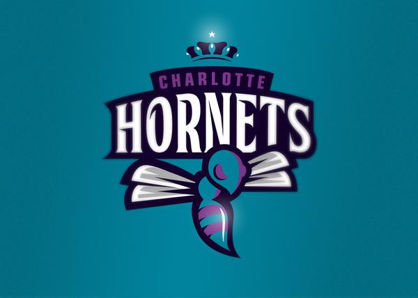 Charlotte Hornets Logo Design Art Design Pinterest