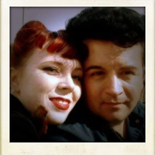 Happy Valentine's Day #ginger #redhead #wife #valentinesday #pompadour #dannydean #dannydeanrocks
