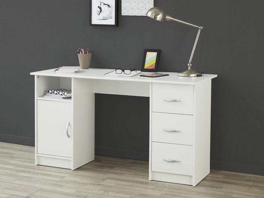 Bureau Learn Blanc130 A 150 Cm Bois Desk Office Desk Corner Desk