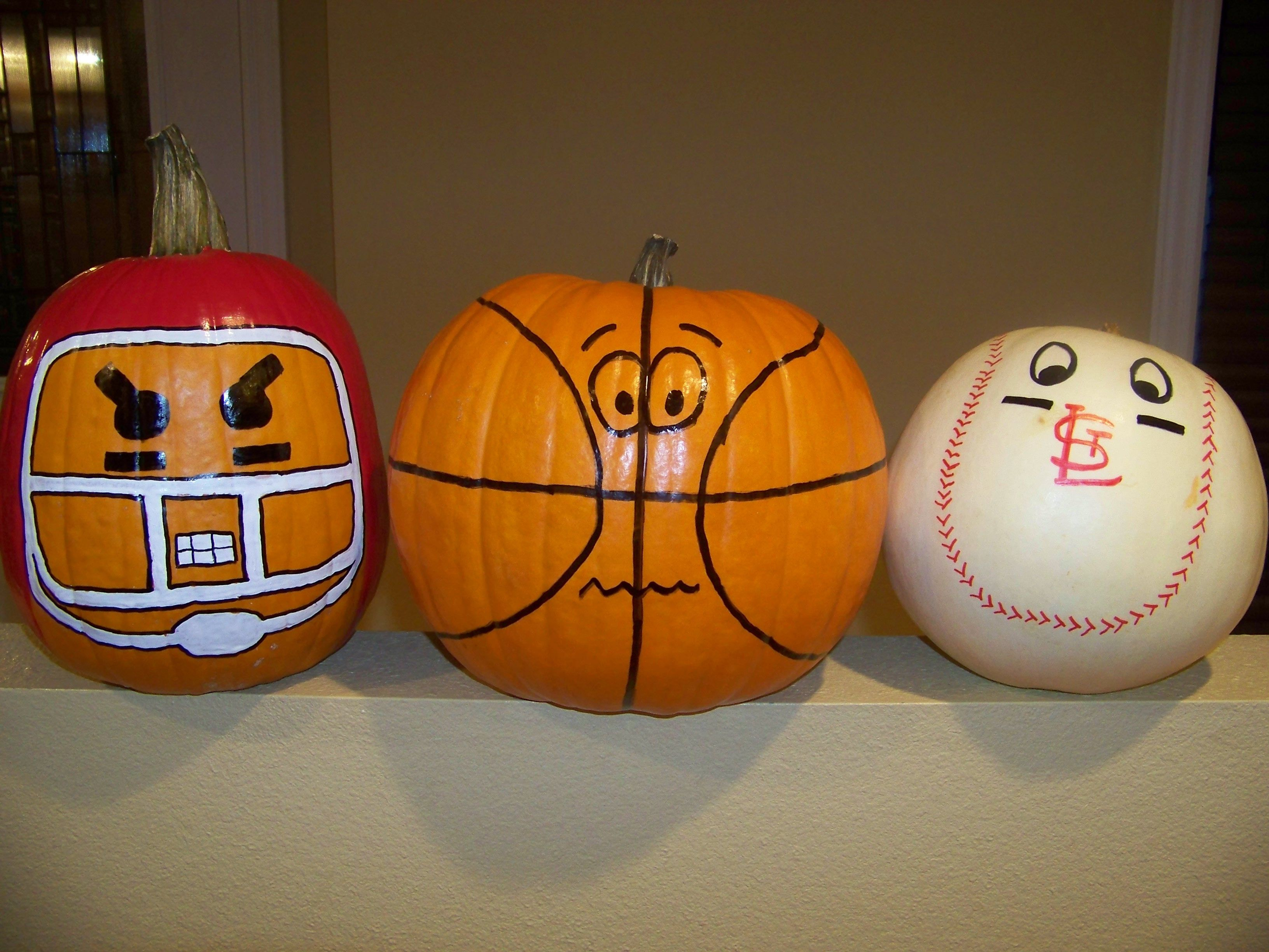 sports pumpkin - Halloween Decorations Pumpkins