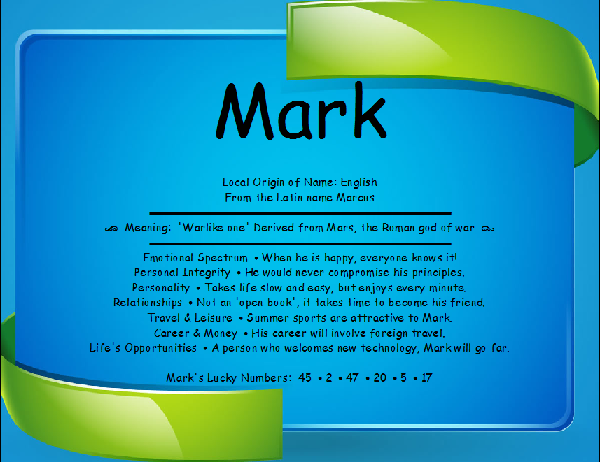 Mark Name Meaning First Name Creations ☆MARK
