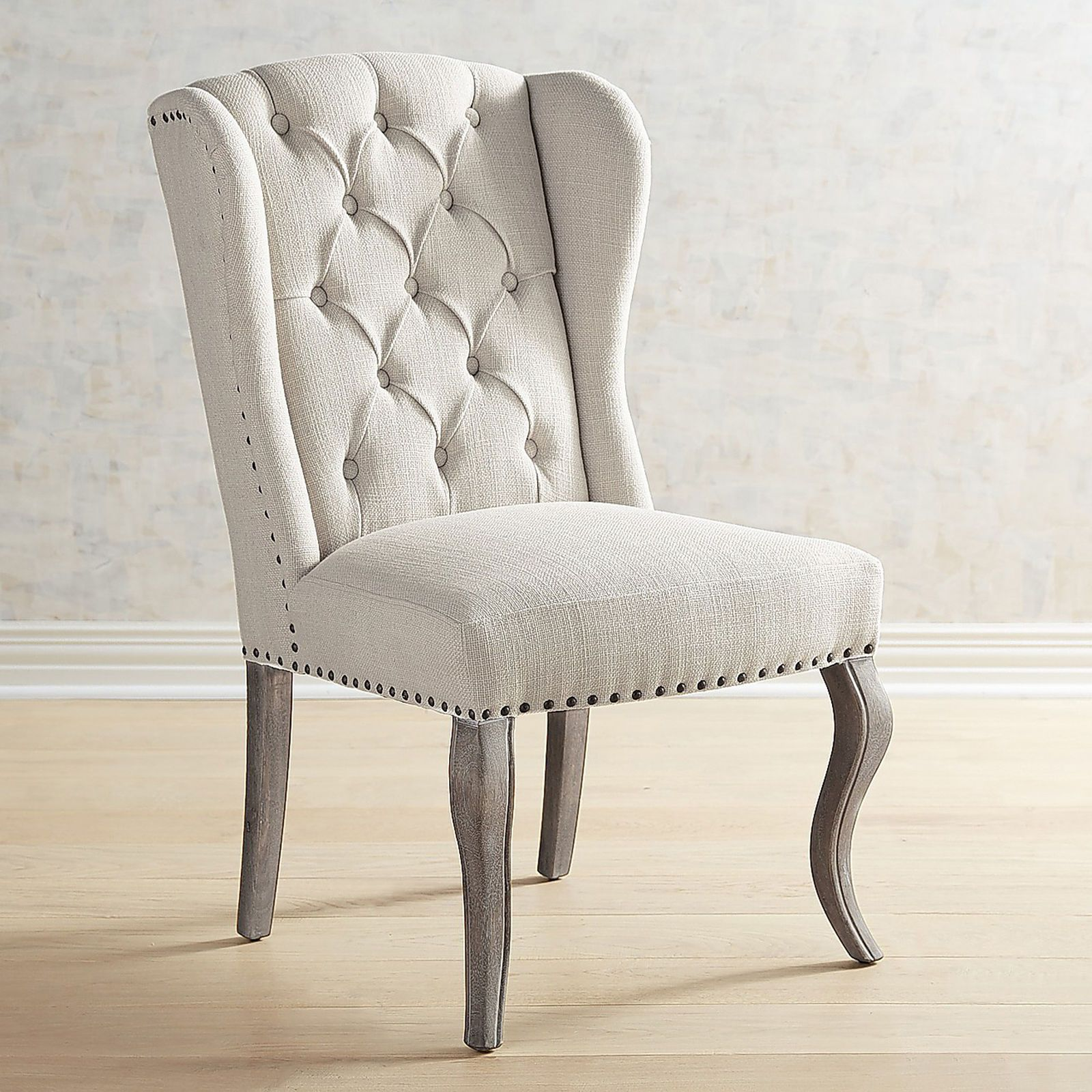 Jamison Flax Wingback Dining Chair With Images Wingback Dining