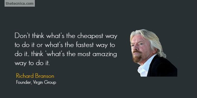 Quotes by Richard Branson @ Like Success | It's a lot like trying to impress a girl