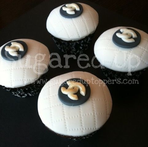 Chanel Cupcakes   #chanel #coco #fashion